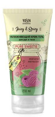 Крем-гель для рук и тела Vilsen Juicy & Spicy Увлажняющий 150мл малина+мелисса