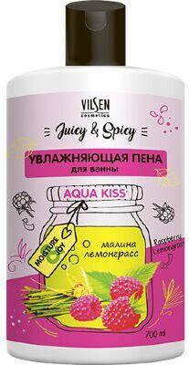 Крем-пена для ванн Vilsen Juicy & Spicy  Увлажняющая 700мл Малина и Лемонграсс /12