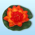 """Растение водоплавающее """"Кувшинка"""" d-10см оранжевая"""