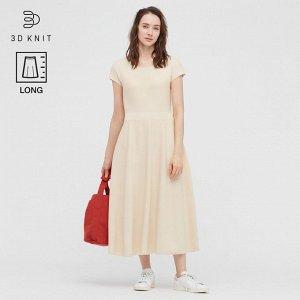 Хлопковое платье, светлый