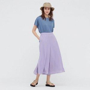Юбка-брюки из шифона,пурпурный