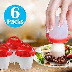 Набор силиконовых форм для варки яиц без скорлупы Silicone Egg Boil (6 шт)