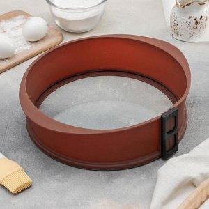 Форма для выпечки со стеклянным дном «Круг», 27?8 см, цвет МИКС