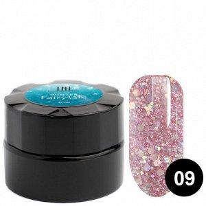 Гель для дизайна ногтей «Розовый фейерверк» TNL 6 мл