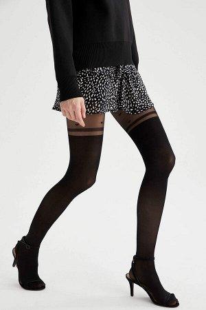 Носки Размеры модели:  рост: 1,78 грудь: 75 талия: 62 бедра: 89 Надет размер: L - XL Elastan 10%,Poliamid 90%