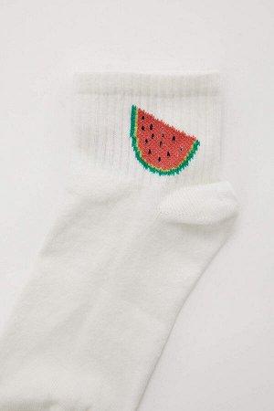 Носки Размеры модели:  рост: 1,75 грудь: 81 талия: 60 бедра: 88 Надет размер: STD Elastan 1%, Полиэстер 26%, Хлопок 70%,Poliamid 3%