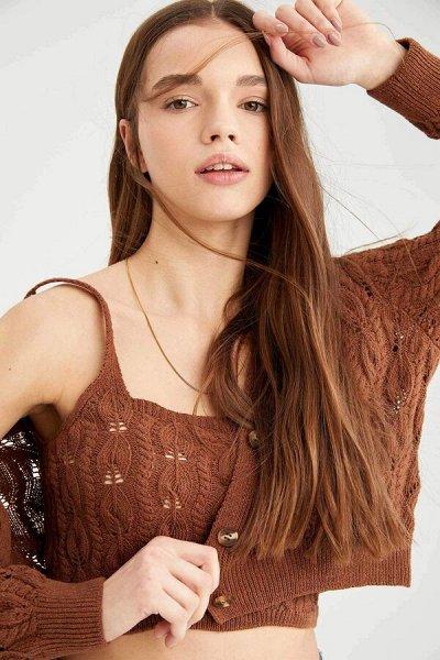 DEFACTO- платья, свитеры, кардиганы Кофты, джинсы и пр — Женские топы и майки