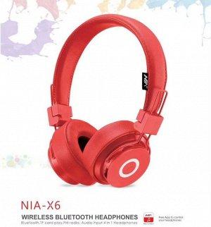 Наушники Наушники NIA - оригинал, новый кит.бренд. Наушники Bluetooth, Fm-radio, MP3, разъем под SD карту, можно слушать через шнур (карта и шнур не входят в комплект), ответ на звонок, регулировка гр