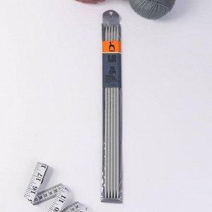 Спицы для вязания, чулочные, d = 5,5 мм, 35 см, 5 шт