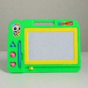 Детская доска для рисования с магнитной крошкой «Классика» МИКС