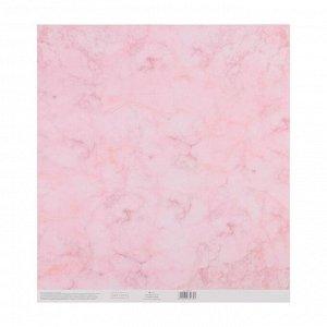 Набор бумага для скрапбукинга с клеевым слоем «Сладкая вата», 30,5 ? 32 см,10 листов 250 г/м