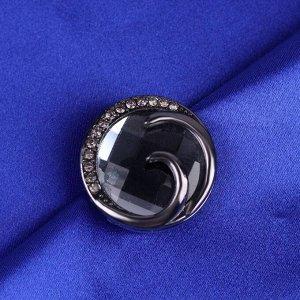 Пуговица декоративная, d = 30 мм, цвет чёрный