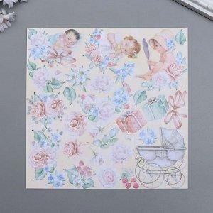 """Набор бумаги для скрапбукинга """"Shabby baby girl redesign"""" 10 листов, 20х20 см"""