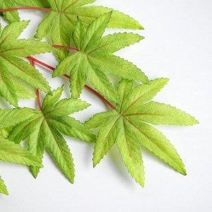 Декор «Листья на ветке» цвет зелёный