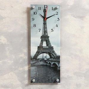 """Часы-картина настенные, серия: Город, """"Эйфелева башня"""", 20х50 см"""
