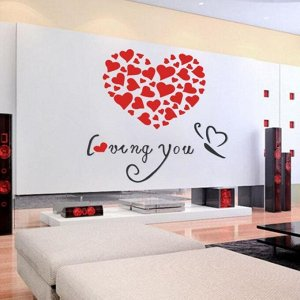 "Панно на стену декоративное ""Признание в любви""  0.8х0.8 м"