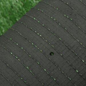 Газон искусственный. ворс 30 мм. 2 ? 5 м. трёхцветный. тёмно-зелёный