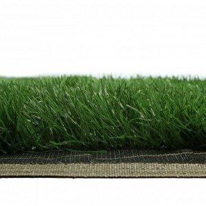 Газон искусственный, для спорта, ворс 50 мм, 2 ? 5 м, тёмно-зелёный