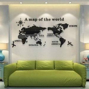 """Панно на стену декоративное """"Карта мира"""" 1.2х0.54 м"""