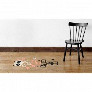 Наклейка виниловая  «Поиграем в классики?». интерьерная. с монтажной пленкой. 50 х 70 см