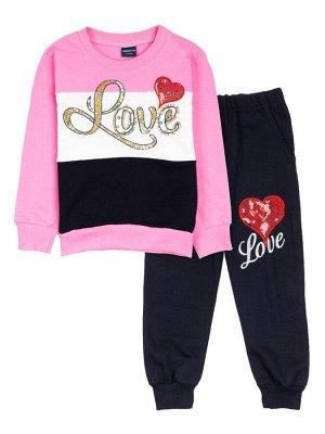 """Костюмы для девочек """"Love rose"""", цвет Розовый"""