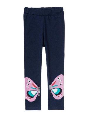 """Лосины для девочек """"Butterfly darck blue"""", цвет Темно-синий"""