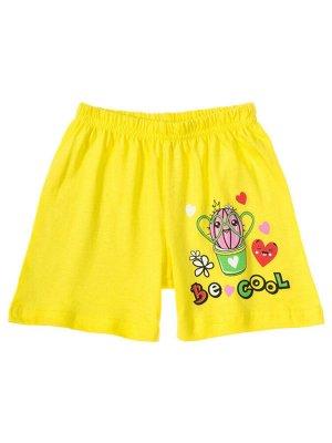 """Шорты для девочек """"Be cool"""", цвет Желтый"""