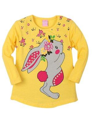 """Туники для девочек """"Rabbit yellow"""", цвет Желтый"""