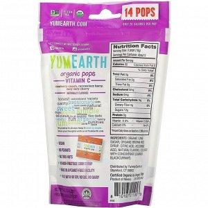 YumEarth, Органические леденцы с витамином C, 14 леденцов, 85 г (3 унции)