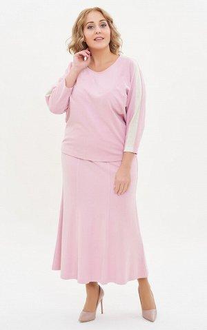 Юбка ЮБКА. Цвет: розовый Коллекция: Нарядная коллекция Состав: 88%-вискоза; 6%-полиамид; 6%-лайкра Длина: от 84 см