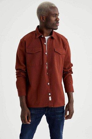 рубашка Размеры модели: рост: 1,88 грудь: 95 талия: 70 Надет размер: XL  Хлопок 100%