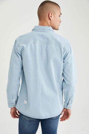 рубашка Размеры модели: рост: 1,88 грудь: 92 талия: 70 бедра: 95 Надет размер: M  Хлопок 100%