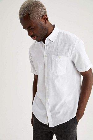 рубашка Размеры модели: рост: 1,88 грудь: 95 талия: 70 Надет размер: M  Хлопок 100%