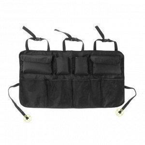 Органайзер на заднее сиденье 87 х 47 см, 8 карманов, черный