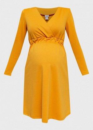 """Платье """"Уитни"""" для беременных и кормящих; шафран"""