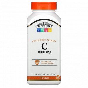 21st Century, С-1000, замедленное высвобождение, 110 таблеток