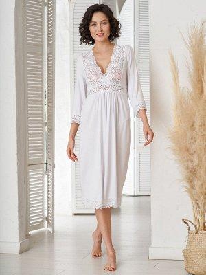 Сорочка для кормления Verona белая  (вискоза 80% хлопок 15% эластан 5%)