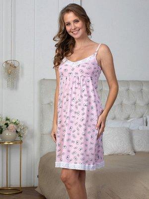 Сорочка Rita глазки на розовом  (хлопок-100%)