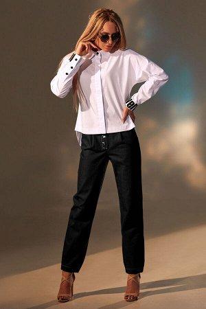 Рубашка Рубашка Golden Valley 2246 №2  Состав: ПЭ-22%; Хлопок-76%; Эластан-2%; Сезон: Весна-Лето Рост: 170  Блузка с центральной потайной застежкой на петли и пуговицы, с втачным воротником, с отрезн