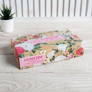 Салфетки бумажные в коробке «Нежность», 100 шт.