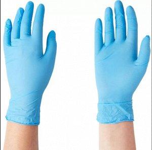 Перчатки нитриловые валли пластик, голубой