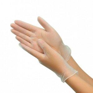 Перчатки виниловые прозрачные неопудренные