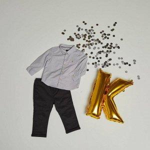 Комплект из рубашки и брюк Eco-conception - серый