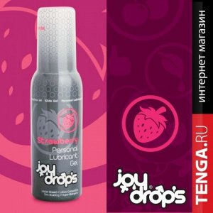 JOYDROPS. Strawberry Lubricant Gel. Смазка со вкусом клубники на водной основе. 100 мл.