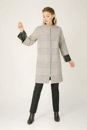 Текстильное пальто в клетку, Пальто 91408-4010