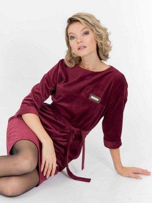 Вельветовое платье прямого силуэта, Платье 201122-4451