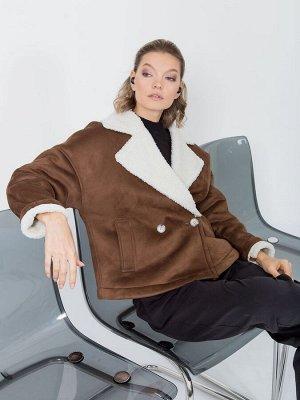 Куртка-дублёнка из искусственного меха, Куртка 201504-4446