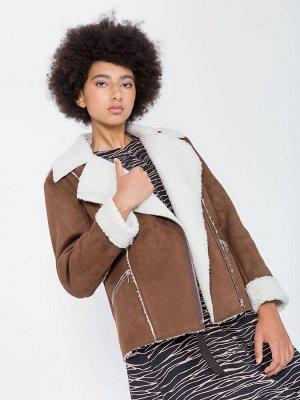 Куртка-дублёнка из искусственного меха, Куртка 201506-4446