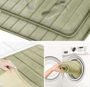 Коврик для ванной с эффектом памяти большой зеленый