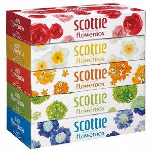 """Салфетки Crecia """"Scottie Flowerbox"""" двухслойные 5 упаковок"""